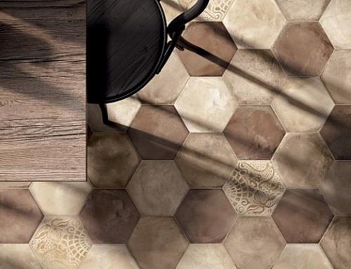 Réalisation de sol en céramique et mosaïque