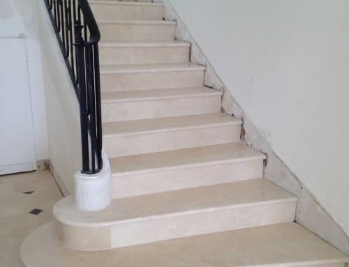 Réalisation Escalier en marbre villa privée