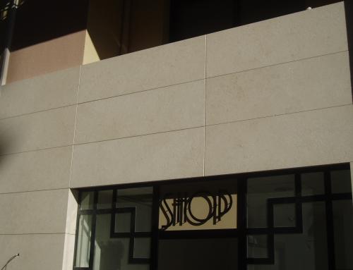 Réalisation d'une façade en Marbre