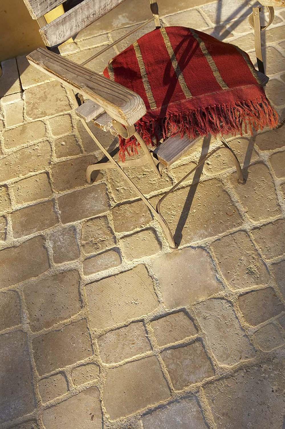 Pavés calcaire romains