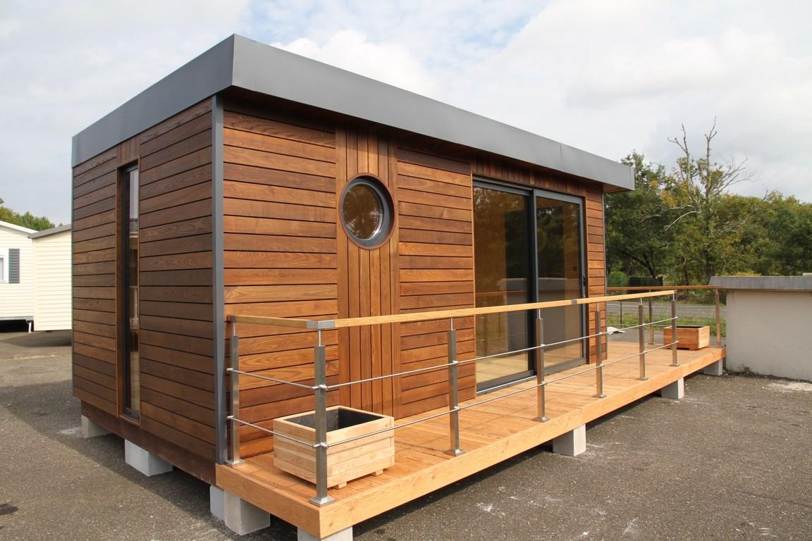 Studio de jardin en fr ne thermo woodstone project for Jardin 35m2