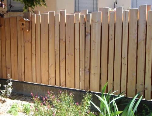 Réalisation d'une clôture déco séparative en Douglas