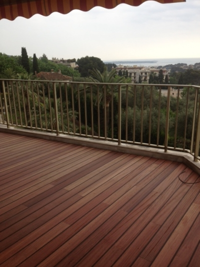 terrasse en padouk