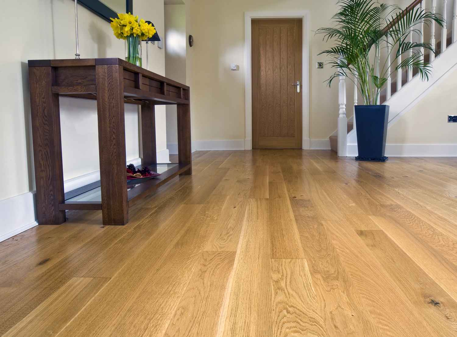Parquet ch ne naturel monolame r alisation woodstone project for Poncer un parquet chene