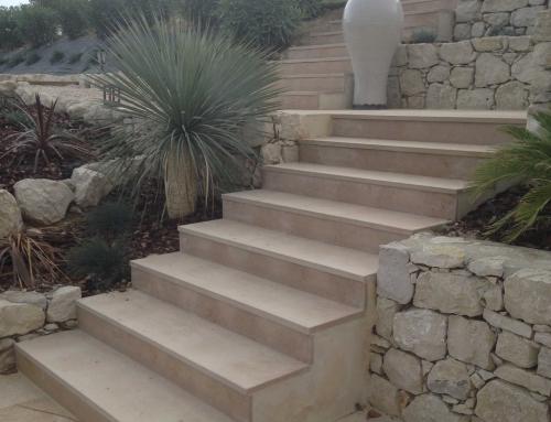 Réalisation d'un escalier en Atlantic beige
