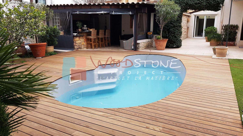 Plage de piscine kebony